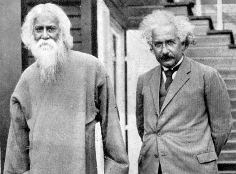 Albert Einstein with Rabindranath Tagore, Credit: Wikipedia, Einstein Quotes and Sayings