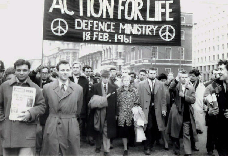 Bertrand, Russell led anti-nuclear march in London, Feb 1961, Wikiquote