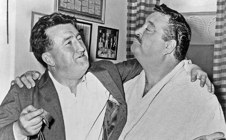 Brendan Behan (Left) and Actor Jackie Gleason, Love Quotes and Sayings