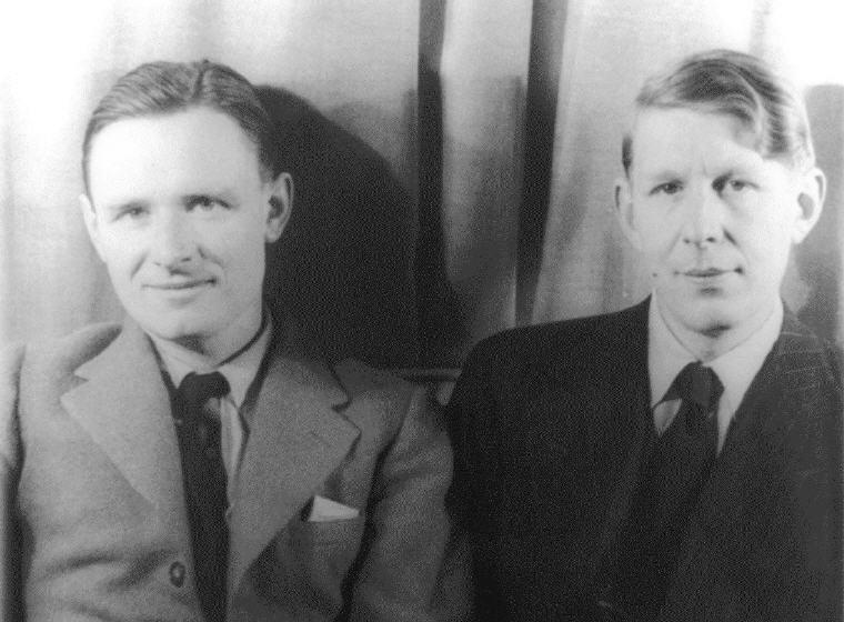 Christopher Isherwood (left) and W.H. Auden (right), Photo credit: Carl Van Vechten, Wikipedia