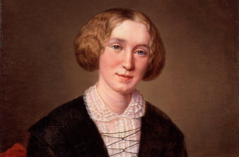 George Eliot at 30 by François D'Albert Durade, Quotes and Sayings, Photo credit: Wikipedia