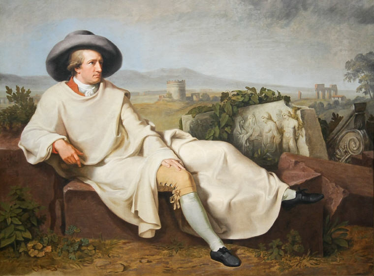 Goethe in the Roman Campagna, Johann Wolfgang von Goethe Quotes and Sayings, Credit: Wikiquote