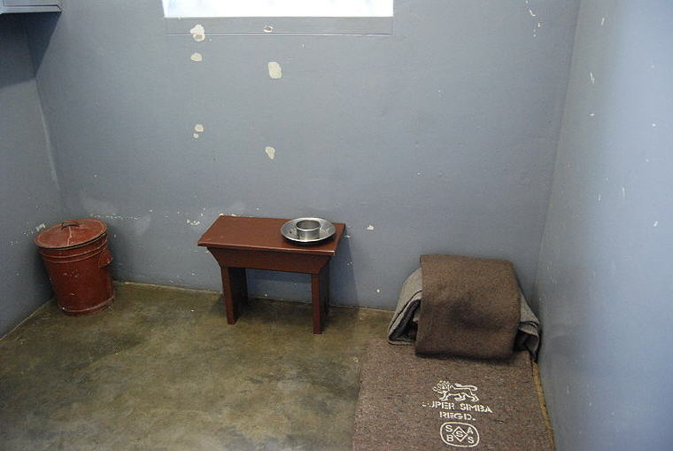 Nelson Mandela's prison cell, Robben Island, South_Africa, Photo credit: Wikipedia