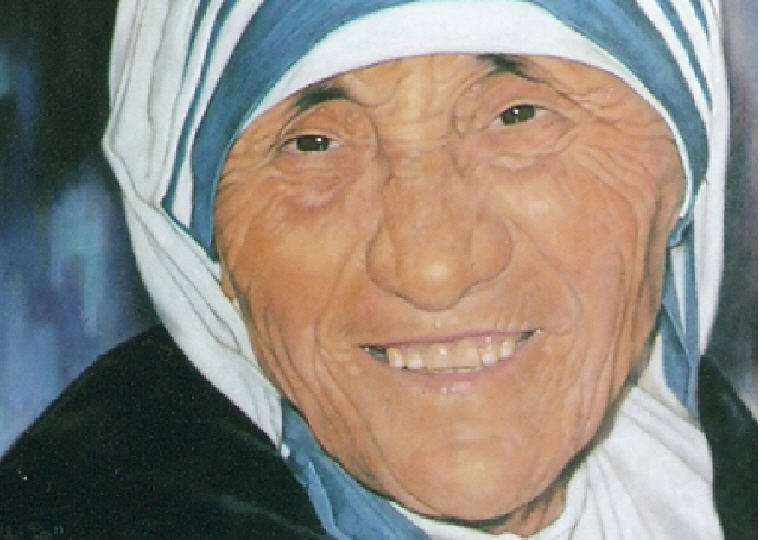 Portrait Painting of MotherTeresa by Robert Pérez Palou, Credit: Wikipedia, Mother Teresa Quotes and Sayings