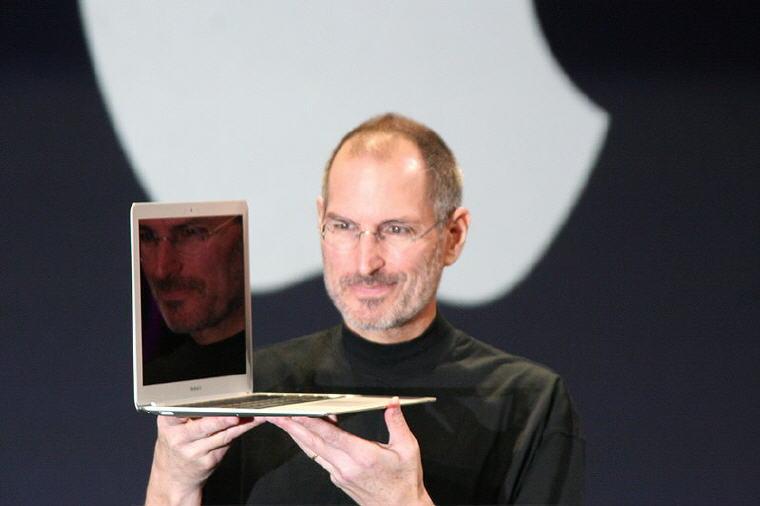 Steve Jobs with MacBook Air, Photo credit: Wikipedia