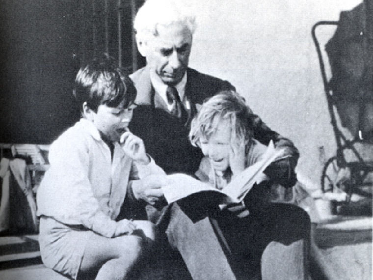 The fundamental defect of fathers, in our competitive society, is that they want their children to be a credit to them. Photo credit: Wikipedia, Bertrand Russell with his children, John and Kate