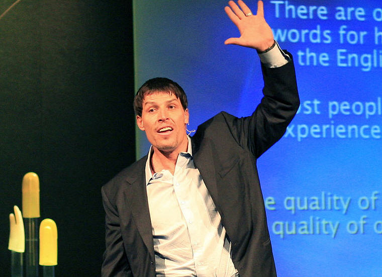 Tony Robbins, TED Convention, 2006, Photo credit: Wikipedia, Anthony Robbins Quotes and Sayings